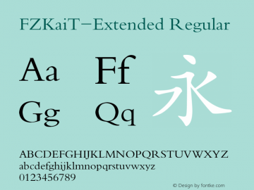 FZKaiT-Extended Regular 1.00图片样张