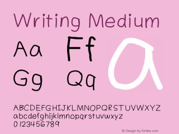 Writing Medium Version 001.000 Font Sample
