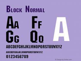 Block Normal Altsys Fontographer 4.1 11/1/95 Font Sample