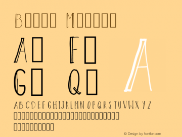 Block Medium Version 001.000 Font Sample
