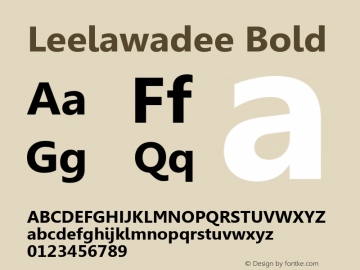 Leelawadee Bold Version 5.00 Font Sample