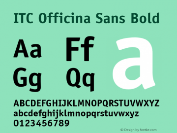 ITC Officina Sans Bold Version 001.000 Font Sample