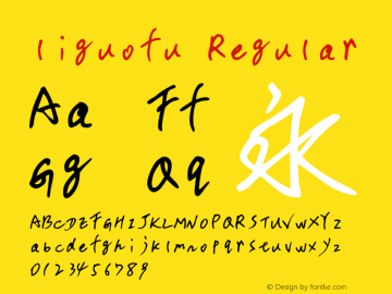 liguofu Regular Version 1.00 Font Sample
