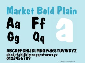Market Bold Plain Altsys Metamorphosis:8/19/91 Font Sample