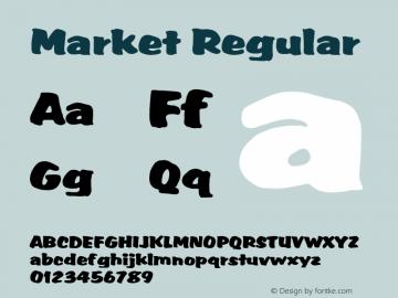 Market Regular Altsys Fontographer 3.5  9/25/92 Font Sample