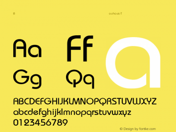 Bauhaus-Thin Regular Converted from F:\WINDOWS\TTFONTS\BAUTHIN.TF1 by ALLTYPE Font Sample