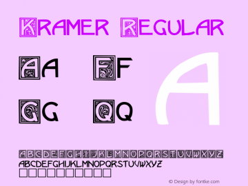 Kramer Regular Altsys Fontographer 3.5  3/15/92 Font Sample