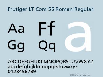 Frutiger LT Com 55 Roman Regular Version 1.30; 2006图片样张