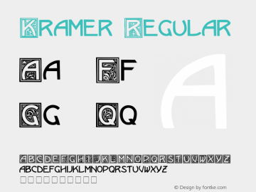 Kramer Regular Altsys Fontographer 3.5  5/13/92 Font Sample