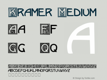 Kramer Medium 001.000 Font Sample