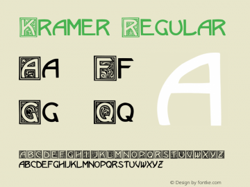Kramer Regular Converted from w:\ttf\KRAMER.TF1 by ALLTYPE Font Sample