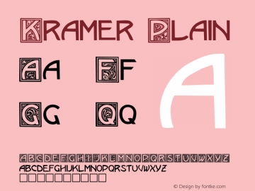 Kramer Plain Altsys Fontographer 3.3  9/14/91 Font Sample