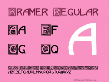 Kramer Regular Converted from C:\TTFONTS\KRAMER.TF1 by ALLTYPE Font Sample