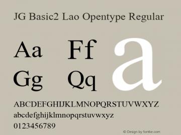 JG Basic2 Lao Opentype Regular Version 2.000 2002 initial release Font Sample