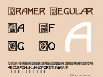Kramer Regular Altsys Fontographer 3.5  8/1/92 Font Sample