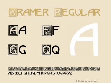 Kramer Regular 001.000 Font Sample