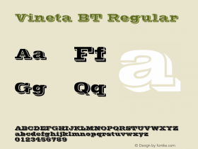 Vineta BT Regular mfgpctt-v1.27 Thursday, March 26, 1992 3:53:34 pm (EST) Font Sample