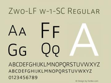 Zwo-LF w-1-SC Regular 4.313 Font Sample