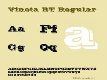Vineta BT Regular mfgpctt-v1.53 Friday, January 29, 1993 1:45:45 pm (EST) Font Sample