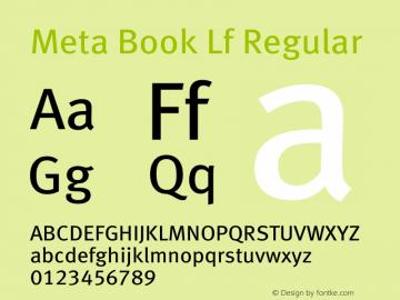 Meta Book Lf Regular 004.301 Font Sample