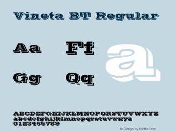 Vineta BT Regular mfgpctt-v4.4 Dec 22 1998 Font Sample
