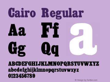 Cairo Regular Altsys Fontographer 3.5  8/29/92 Font Sample