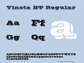 Vineta BT Regular mfgpctt-v1.53 Friday, January 29, 1993 1:45:45 pm (EST) Font Sample