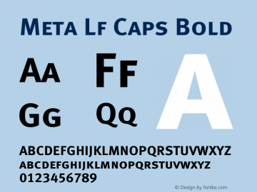 Meta Lf Caps Bold 004.301 Font Sample