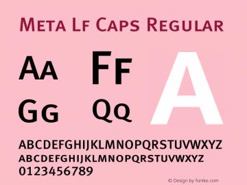 Meta Lf Caps Regular 004.301 Font Sample