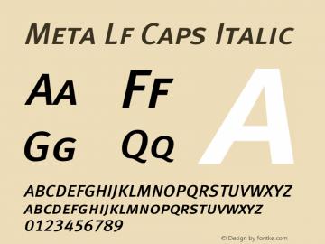 Meta Lf Caps Italic 004.301 Font Sample