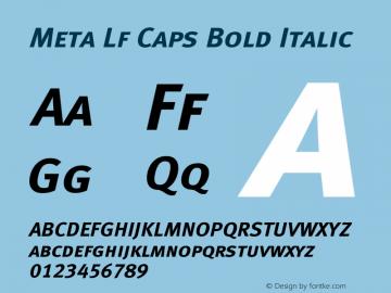 Meta Lf Caps Bold Italic 004.301 Font Sample