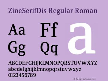 ZineSerifDis Regular Roman 004.301图片样张