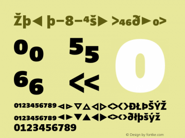 Zwo w-8-Exp Regular 4.313 Font Sample