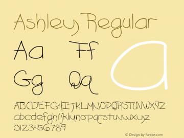 Ashley Regular Converted from F:\ASHLEY.TF1 by ALLTYPE图片样张