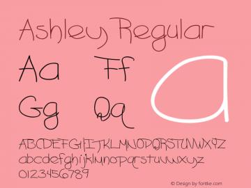 Ashley Regular Converted from C:\TTFONTS\ASHLEY__.TF1 by ALLTYPE图片样张
