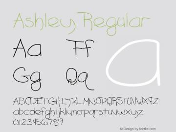 Ashley Regular Converted from D:\TEMP\ASHLEY.TF1 by ALLTYPE图片样张
