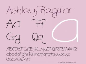 Ashley Regular Converted from C:\TEMP2\ASHLEY__.TF1 by ALLTYPE图片样张