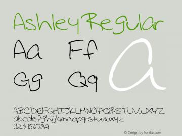 Ashley Regular Version 1.00 December 14, 2007, initial release图片样张