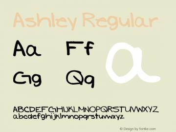 Ashley Regular Version 1.00 January 12, 2007, initial release图片样张