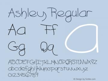 Ashley Regular Converted from C:\EMSTT\ASHLEY__.TF1 by ALLTYPE图片样张