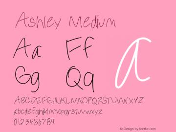 Ashley Medium Version 001.000图片样张