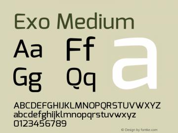 Exo Medium Version 1.00 Font Sample