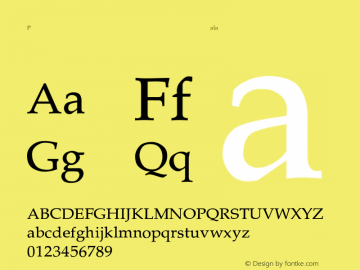 Palatino-Thin Regular Converted from C:\TEMP\PALATINO.TF1 by ALLTYPE Font Sample