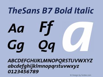 TheSans B7 Bold Italic 001.000图片样张