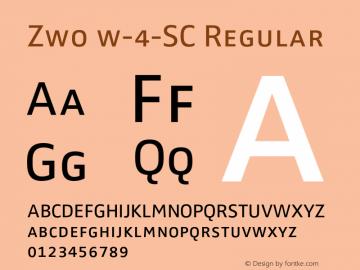Zwo w-4-SC Regular 4.313 Font Sample
