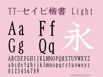 TT-セイビ楷書 Light Version 3.00图片样张
