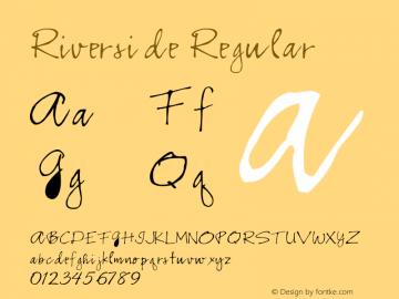 Riverside Regular Converted from e:\aff07\RIVSIDE.FF1 by ALLTYPE Font Sample