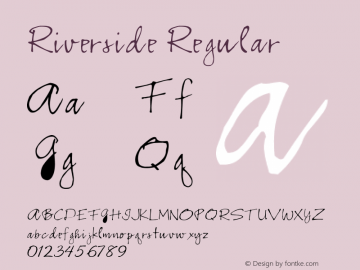 Riverside Regular Converted from E:\TRUETYPE\RSRIVERS.TF1 by ALLTYPE Font Sample