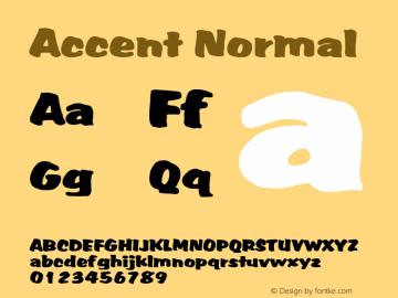 Accent Normal 1.0 Fri May 14 11:27:40 1999 Font Sample