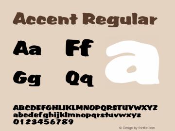 Accent Regular Altsys Fontographer 3.5  4/10/93 Font Sample